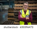 portrait of male factory worker ...