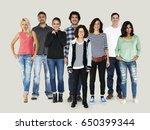 group of diversity people... | Shutterstock . vector #650399344