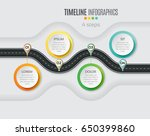 navigation map infographic 4... | Shutterstock .eps vector #650399860