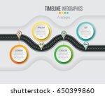 navigation map infographic 4... | Shutterstock .eps vector #650399860