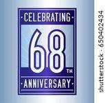 68 years anniversary design... | Shutterstock .eps vector #650402434
