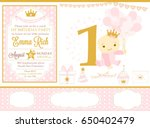 pink and gold princess party... | Shutterstock .eps vector #650402479