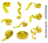 set of measuring tapes isolated ... | Shutterstock . vector #65040406