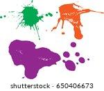 vector paint splatters.colorful ... | Shutterstock .eps vector #650406673