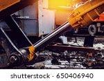 pneumatic piston for machinery... | Shutterstock . vector #650406940
