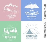 set of four beautiful... | Shutterstock .eps vector #650407468