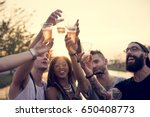 group of friends fun events... | Shutterstock . vector #650408773