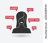 cyberbullying concept....   Shutterstock .eps vector #650408944