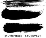 set of grunge brush strokes | Shutterstock .eps vector #650409694