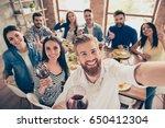 multiethnic group. handsome... | Shutterstock . vector #650412304