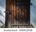 old door in skansen open air... | Shutterstock . vector #650412928