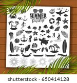 summer vintage silhouettes and... | Shutterstock .eps vector #650414128