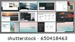 original presentation templates ... | Shutterstock .eps vector #650418463