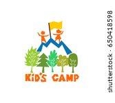 logo of the kid's camp.... | Shutterstock .eps vector #650418598