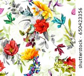 seamless background pattern.... | Shutterstock .eps vector #650423356