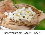 salty and cheese bar of several ... | Shutterstock . vector #650424274
