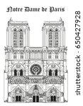 notre dame cathedral  landmark... | Shutterstock .eps vector #650427928