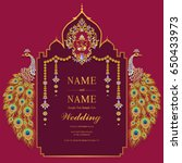 wedding invitation card... | Shutterstock .eps vector #650433973