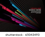 vector of abstract background | Shutterstock .eps vector #65043493
