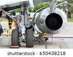 passenger jet plane in service. ... | Shutterstock . vector #650438218