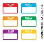 """""""hello my name is"""" sticker... 
