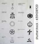 emblems of belief | Shutterstock . vector #650438920