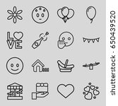 happy icons set. set of 16... | Shutterstock .eps vector #650439520