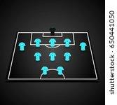 football  soccer  3d starting... | Shutterstock .eps vector #650441050
