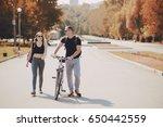 loving couple in the summer... | Shutterstock . vector #650442559