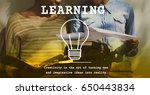 woman learning study education... | Shutterstock . vector #650443834