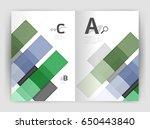 geometrical brochure a4... | Shutterstock .eps vector #650443840