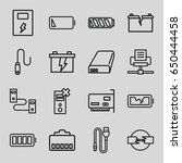 charger icons set. set of 16... | Shutterstock .eps vector #650444458