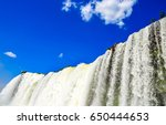 waterfall sky clouds landscape | Shutterstock . vector #650444653