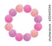 vector chunky wreath pink baby... | Shutterstock .eps vector #650445544