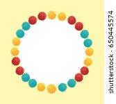 vector happy vibrant birthday... | Shutterstock .eps vector #650445574