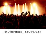 cheering crowd at a rock concert | Shutterstock . vector #650447164