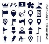 marker icons set. set of 25... | Shutterstock .eps vector #650449540