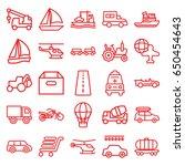 transport icons set. set of 25... | Shutterstock .eps vector #650454643