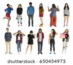 diversity people set gesture... | Shutterstock . vector #650454973