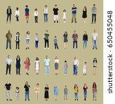 diversity people set gesture... | Shutterstock . vector #650455048