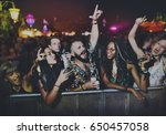 group of friends fun events... | Shutterstock . vector #650457058