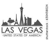 las vegas skyline silhouette... | Shutterstock .eps vector #650458024