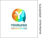 y letter talk brand identity.... | Shutterstock .eps vector #650459374