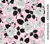 vector vintage black and pink... | Shutterstock .eps vector #650461408
