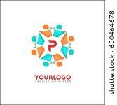 p letter social relationship... | Shutterstock .eps vector #650464678