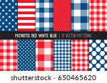 patriotic red white blue stars  ... | Shutterstock .eps vector #650465620