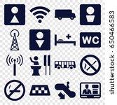 public icons set. set of 16... | Shutterstock .eps vector #650466583