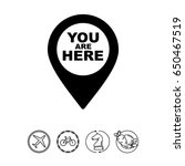 Stock vector you are here pointer icon 650467519