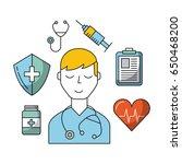 round icon head mind | Shutterstock .eps vector #650468200