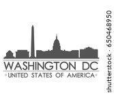 washington dc skyline... | Shutterstock .eps vector #650468950